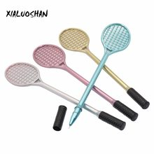 4 Pcs Gel Pen Writing Point 0.5mm Creative Stationery Cute Tennis Racket Modeling Badminton Racket Pencil Stylus Pen(China)
