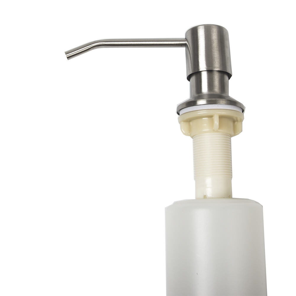 350ml big capacity stainless steel soap dispenser brushed kitchen sink liquid soap container rotatable head with ABS bottle kitchen bathroom sink soap lotion dispenser head stainless steel abs bottle