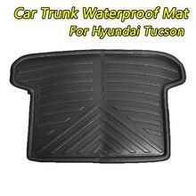 Auto Posteriore Tronco Cargo Impermeabile Zerbino Su Misura Scarpetta Vassoio Carpet Pad di Protezione Per KIA Sportage Per Hyundai Tucson 2016 ~ 2018
