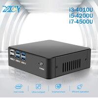 XCY Мини ПК Intel Core i3 4010U i5 4200U i7 4500U Barebone Motherbroad оперативная память SSD HTPC HD Wi Fi алюминиевый корпус Мини компьютер
