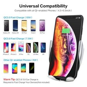 Image 5 - Floveme dotykowy na podczerwień uchwyt samochodowy na telefon bezprzewodowa do ładowania dla iPhone Samsung 360 nawigacji uchwyt samochodowy uchwyt samochodowy