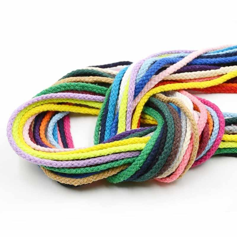 5yards 6mm Cotton Rope Craft Decorative Twisted Cord Rope For Handmade Decoration DIY Lanyard Ficelles Couleurs Thread Cord