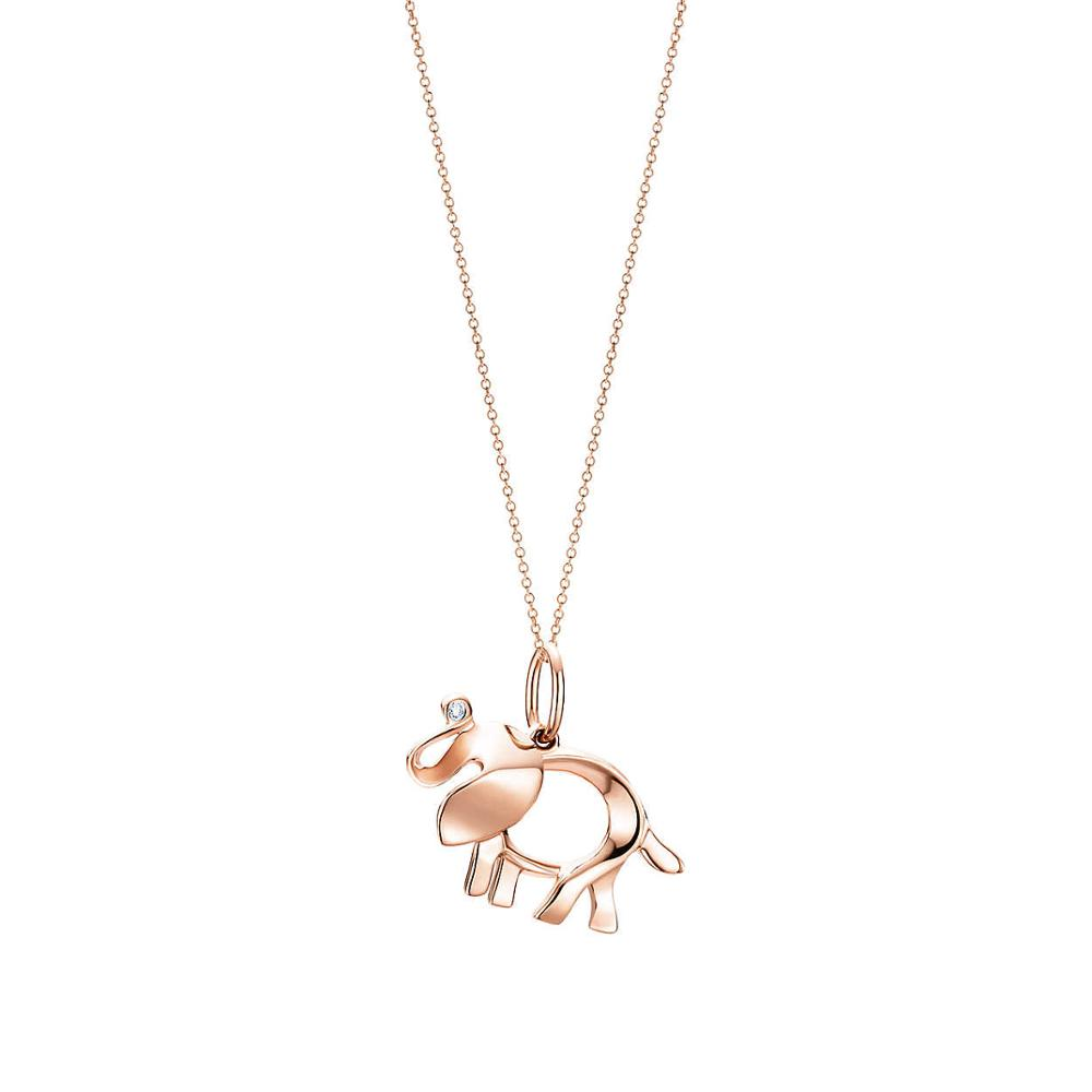 CHAMSS 925 Sterling Silver 45CM The elephant pendant necklace Pendants & Necklaces Women Jewelry Free Package Mail