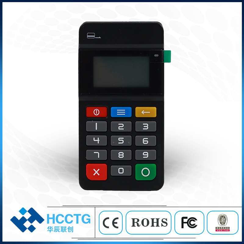 Mobile Payment Chip Credit Card Reader Mpos Terminal Machine With Pinpad HTY711 image