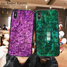 Marble Gold Foil Back Cover For Xiaomi 9 Redmi 4X 4A