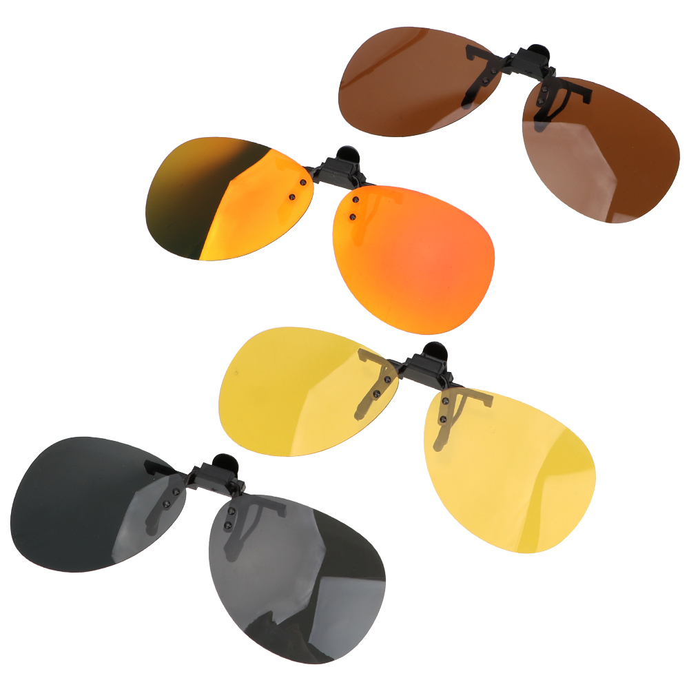 LEEPEE Car Driving Night Vision Lens Anti-UVA UVB For Men Women Driver Goggles Clip On Sunglasses Polarized Sun Glasses