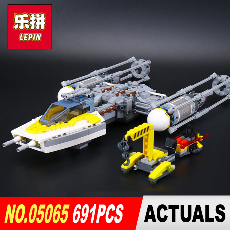 Lepin 05065 691Pcs Star classic Wars The Y-wing Starfighter Building Blocks Bricks Educational Toys legoe 75172 children gifts lepin 05040 star wars y wing attack starfighter model building kits blocks brick toys compatiable with lego kid gift set