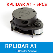 5 Pieces Slamtec RPLIDAR A1 2D 360 degree 12 meters scanning  radius lidar sensor scanner for obstacle avoidance and navigation