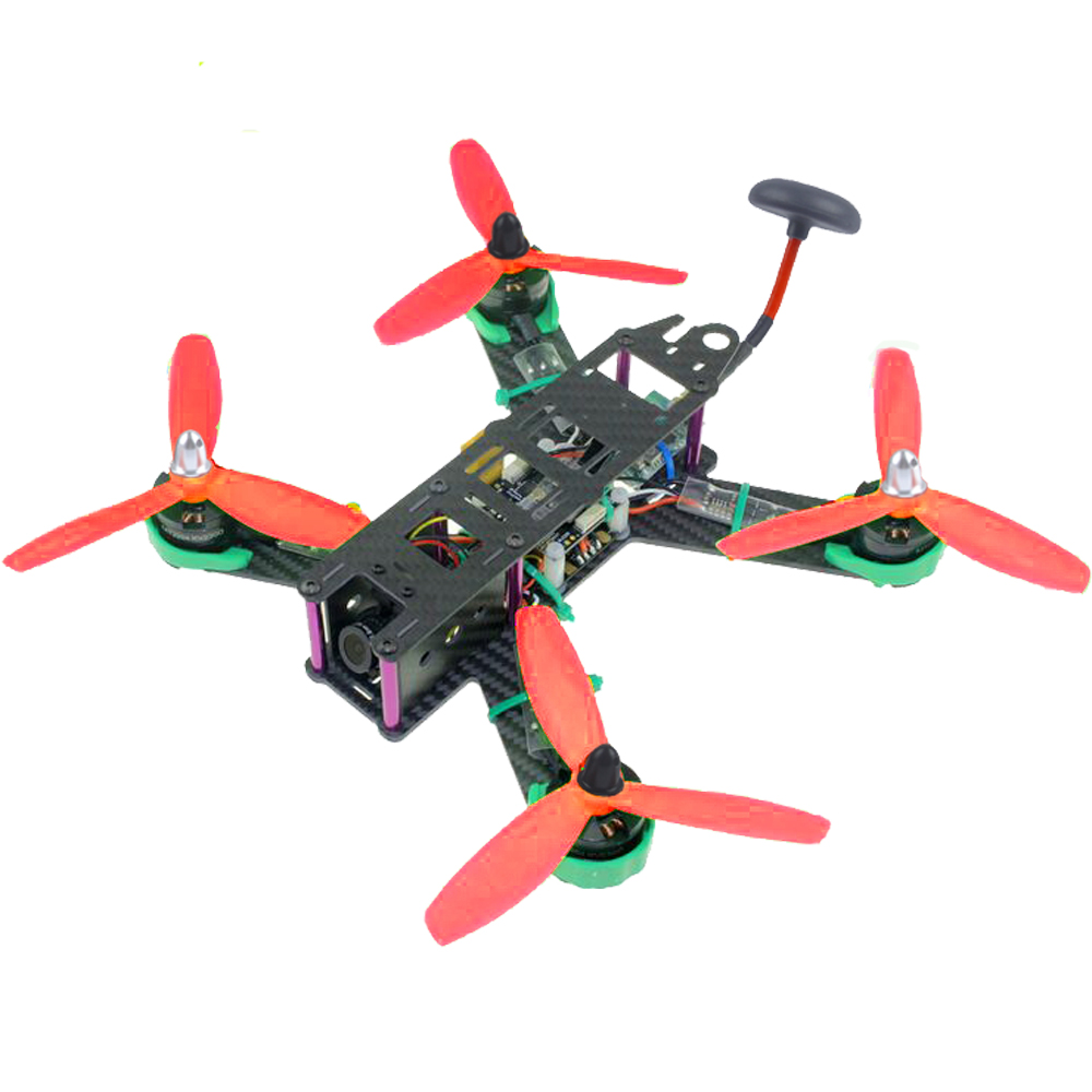 210mm 3K Carbon Fiber QAV210 RTF FPV Racing Drone Quadcopter with Compass Barometer Function 700tvl camera 30A ESC diy fpv mini drone qav210 zmr210 race quadcopter full carbon frame kit naze32 emax 2204ii kv2300 motor bl12a esc run with 4s