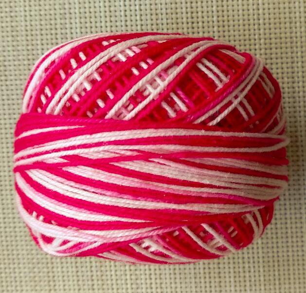 4 рулона пестрая нить для вязания крючком/пряжа и нить для вязания 50 г/рулон - Цвет: Розовый