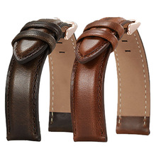 Spot Italian cowhide top leather watch strap switch quick unplug ear 18/20/22mm