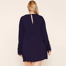 Plus Size V Neck Elegant Street Wear Dress