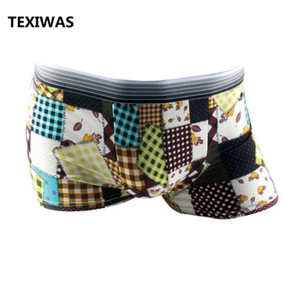 Image 4 - TEXIWAS 10Pcs/lot Fashion Silk Underwear Men  Cartoon Print Man Boxers Homme Comfortable Underpants Soft Breathable Male Panties