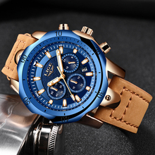 2019 LIGE Mens Watches Brand Luxury Blue Quartz Watch Men Casual Leather Military Waterproof Sport Wrist Watch Relogio Masculino high quality luxury brand leather men watches waterproof fashion casual quartz watch business military wrist watch hour relogio