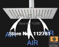 Эксклюзивный Air Drop Технология! Нержавеющаясталь (304) 16 дюймов площадь матовый Никель накладные осадков Насадки для душа BD018