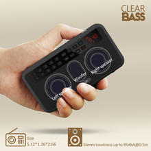 Portable Stereo Bluetooth Speakers FM Radio