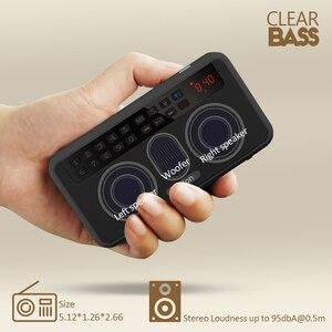 Image 5 - Rolton E500 Tragbare Stereo Bluetooth Lautsprecher FM Radio Bass Dual Lautsprecher TF Karte USB Musik Player (Schwarz)