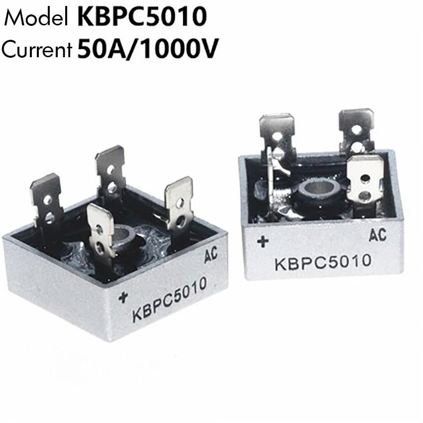 50A 1000V Metal Case Single Phases Diode Bridge Rectifier KBPC5010
