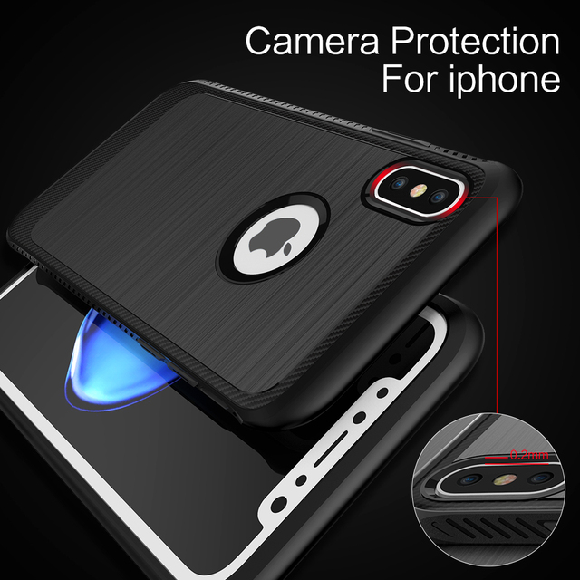 Luxury Shatterproof Cover For iPhone X Phone Case Soft TPU Edge Hard PC iX i X Case For Apple iPhone X Protective Accessories