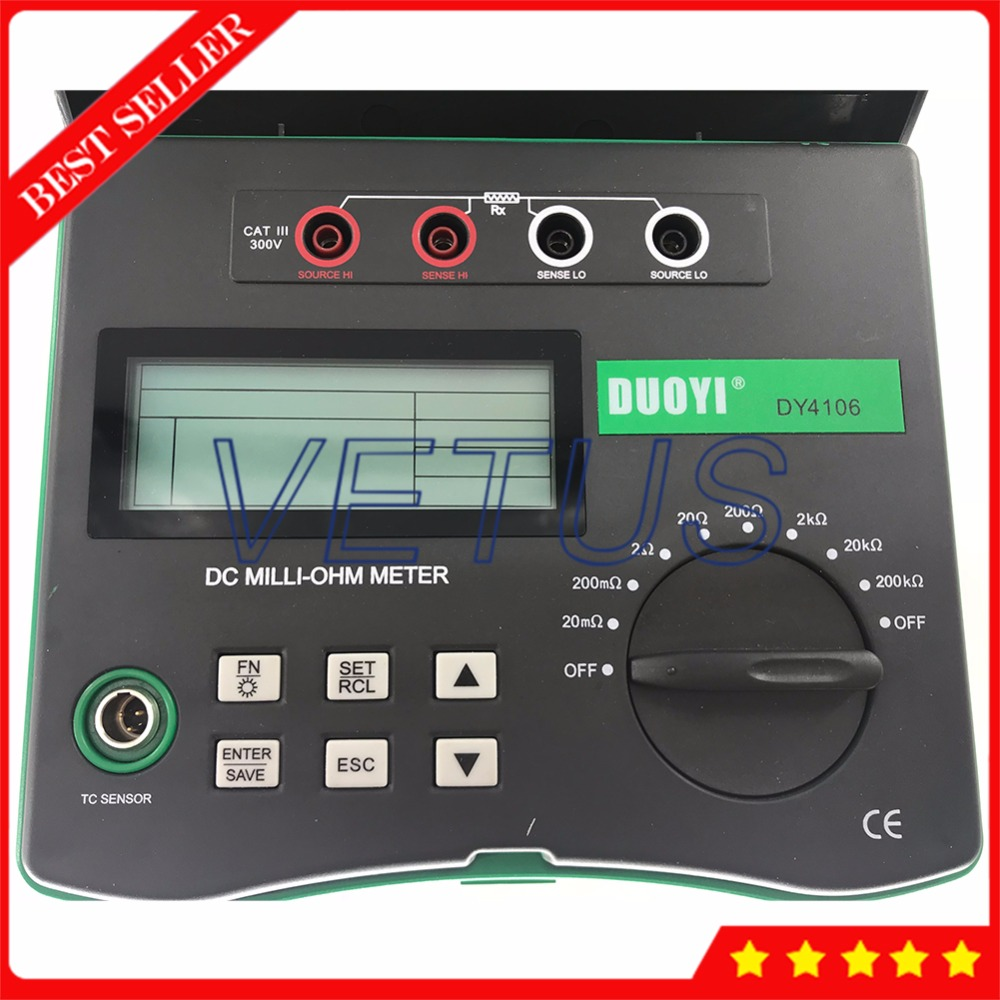 DY4106 Micro Ohm Meter with Low Resistance Tester