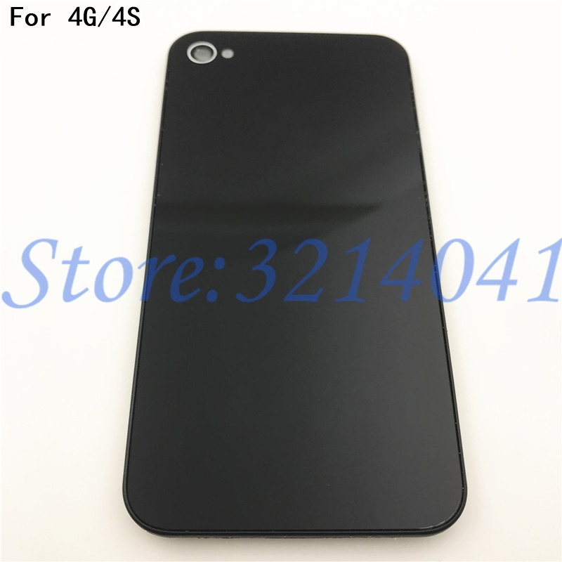 Original New Phone Back Cover Case Replacement For Iphone 4 4G 4S Rear Glass Battery Door Housing With Logo
