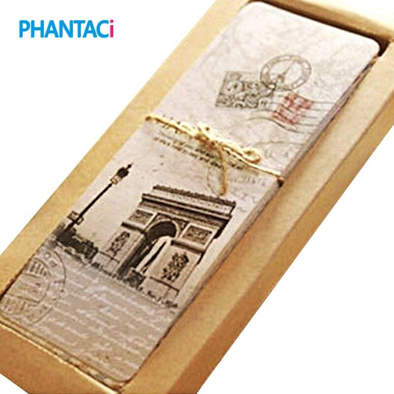 30 pcs/lot Vintage European Scenes Paper Book Marks Retro France Paris Eiffel Tower Bookmark Set декор blau versalles dec eiffel prl 47 2x47 2