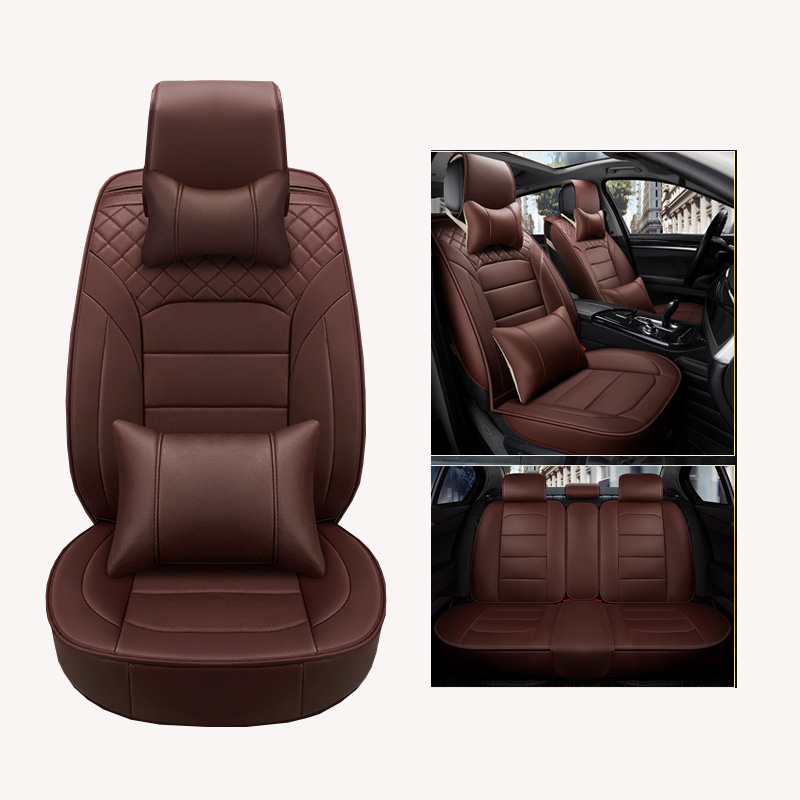 Luxury PU Leather Car Seat Covers Universal Full Seat