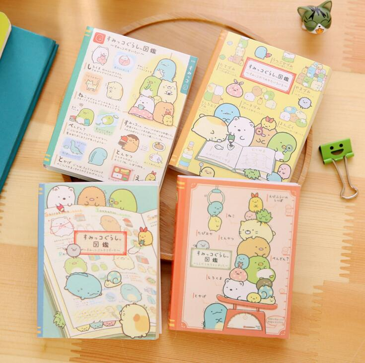 Cute Sumikko Gurashi 4 Folding Memo Pad N Times Sticky Notes Memo Notepad Bookmark Gift Stationery(China)