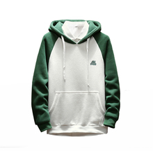 Hoodie Mens Pullover Cotton Green Mens Casual Clothing Youth Hoodie Fleece Warm Hoody Male Sweatshirt Hip Hop Autumn Winter