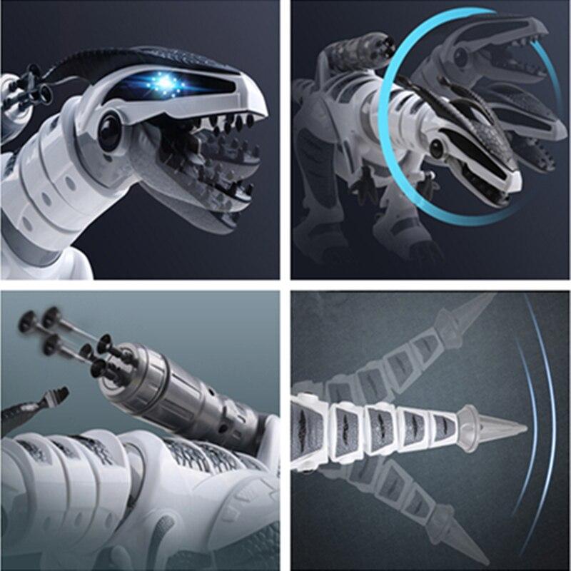 Dinosaure robots marche dinosaures électronique dinosaurio jouets interactive à distance jouets Interactifs Robots jouet robot rc - 5