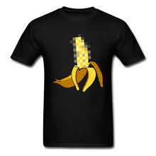 Hommes t-shirt impressionnant hommes drôle jaune mosaïque banane impression t-shirts 80's The Weeknd mode t-shirt taille hommes hauts t-shirts(China)