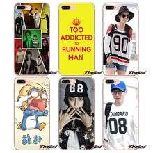 For iPhone X 4 4S 5 5S 5C SE 6 6S 7 8 Plus Samsung Galaxy J1 J3 J5 J7 A3 A5 2016 2017 South Korea running man Soft Phone Case(China)