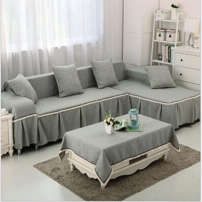 Simple Modern Solid Jacquard Anti Skid Sofa Slipcover Couch Cover Reactive Dyeing Fading 1 Piece Price 8 Colours Free Ship