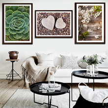 Posters And Prints Wall Art Canvas Painting Green Palm Wall Pictures For Living Room Nordic Poster Cuadros Decoracion FA758 цена и фото