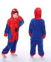 Animal Pajamas Unicorn Jumpsuit Pyjamas Kids Unisex Birthday Party Spiderman Anime Cosplay Costume Sleepwear New Year