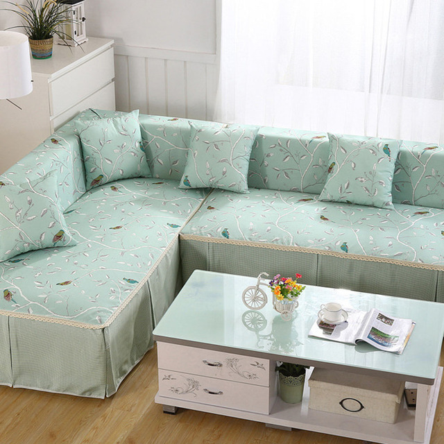 100 Polyester Sofa Covers Past Style On The Corner For Decoration Slip Resistant Couch Cover Single Double Three Four