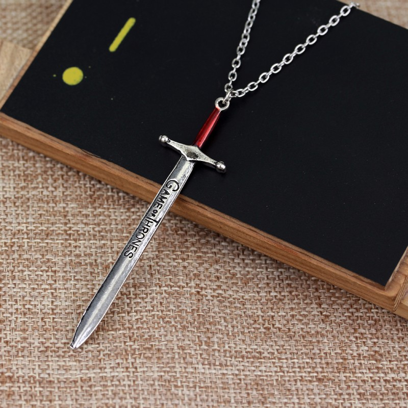 New 2016 Charm Design Game Of Thrones Sword Necklace Letter Opener Sword Pendant Necklace For Men Gift Jewelry