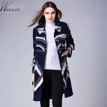 2016 high fashion women's wool coat lapel and warm irregular figure long coat single row mouth temperament cashmere coat 5 ss176