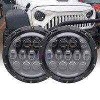 1 Pair 105W 7''Headlamp for Jeep Wrangler CJ JK 7 inch Led Driving Light H4 H13 Headlights for Hummer H1 H2 Cruiser Trucks