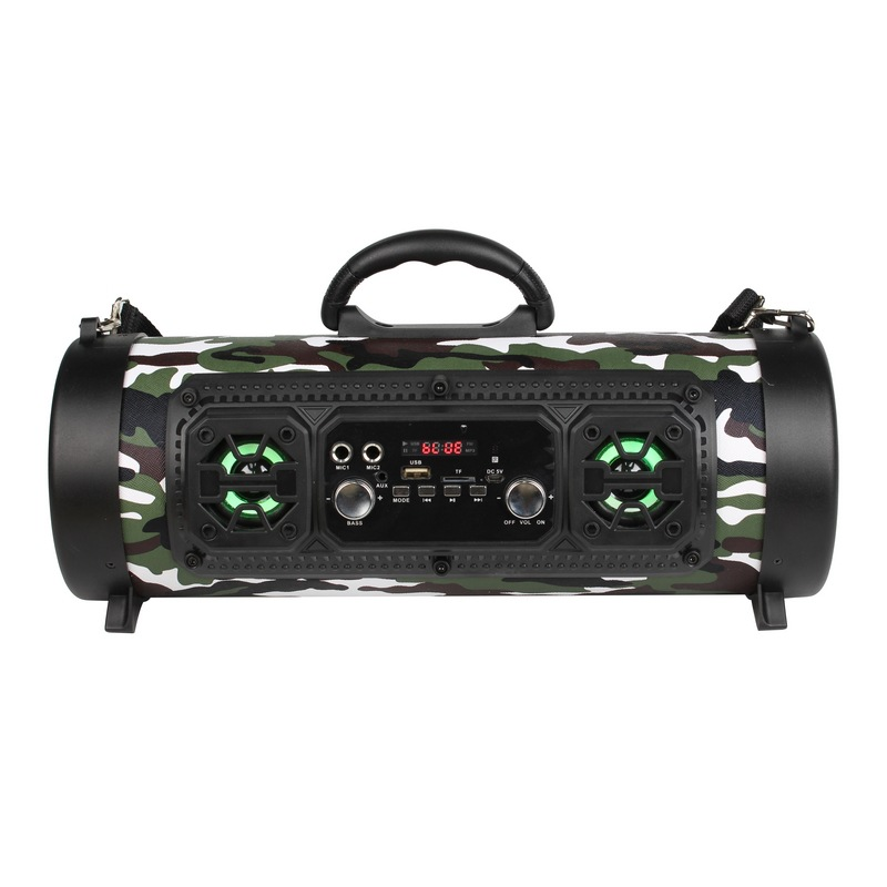Bluetooth speaker with flashing light with high and low sound adjustment K song function high power subwoofer in Portable Speakers from Consumer Electronics