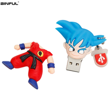 New Cartoon Pen Drive Silicone Usb Flash 2.0 Stick 4gb 8gb 16gb 32gb 64gb 128gb Memory Goku