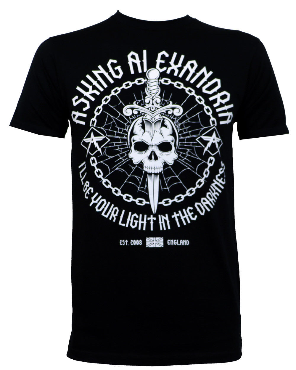 Authentic ASKING ALEXANDRIA Light In The Darkness Slim Fit T-Shirt S-2XL NEW ...