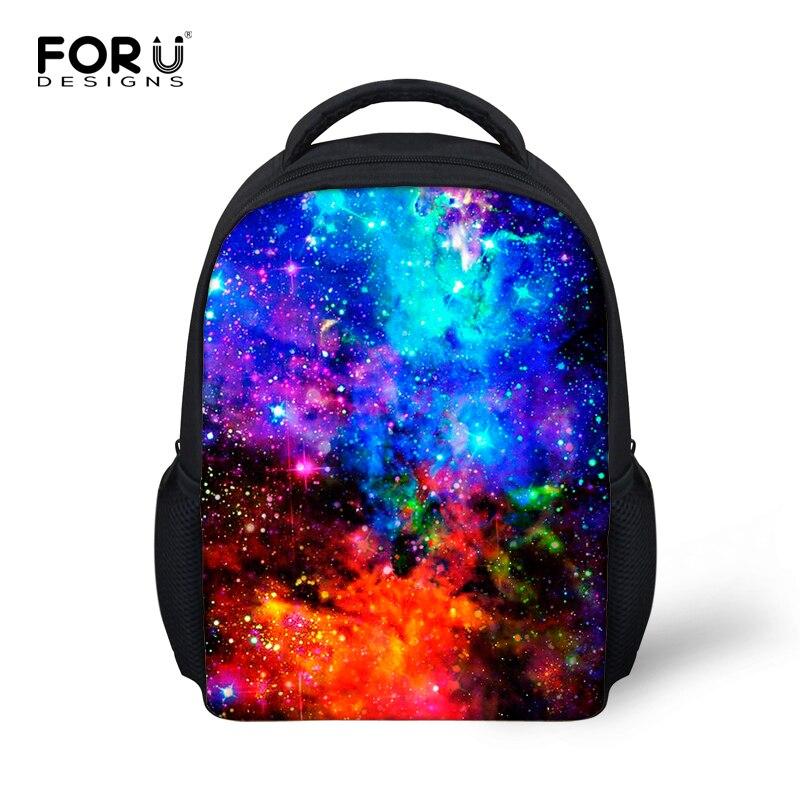 Довольно 3D Galaxy Star Печать Дети Школьные сумки мини-детский школьный Прохладный для девочек детский сад книга сумки Mochila