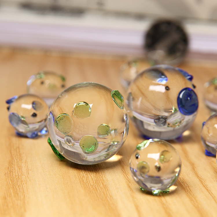 Home & Garden Figurines & Miniatures Just 1pc K9 Crystal Pig Figurines Miniatures Glass Animal Miniature House Decoration Fengshui Crafts Cute Ornaments Mo 011