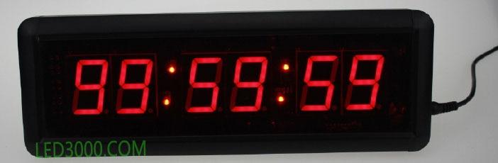 1,8 hüvelyk piros színű óra, perc és másodperc - Lakberendezés