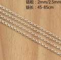 925 Silver Necklace Silver Jewelry Lady's Pure Silver Necklace Long Necklace 61cm Free Shipment