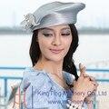 Бесплатная Доставка Мода Нового Прибытия Женщин Церкви Hat Платье Шляпа Армия Форма Hat Королева Характер Платье Hat Два Цвета