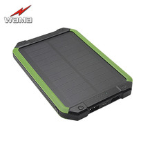 1x Wama Solar Panel Charger dual-USB Waterproof Shockproof Power Bank 5500mAh Outdoors Compass External Portable LED Light