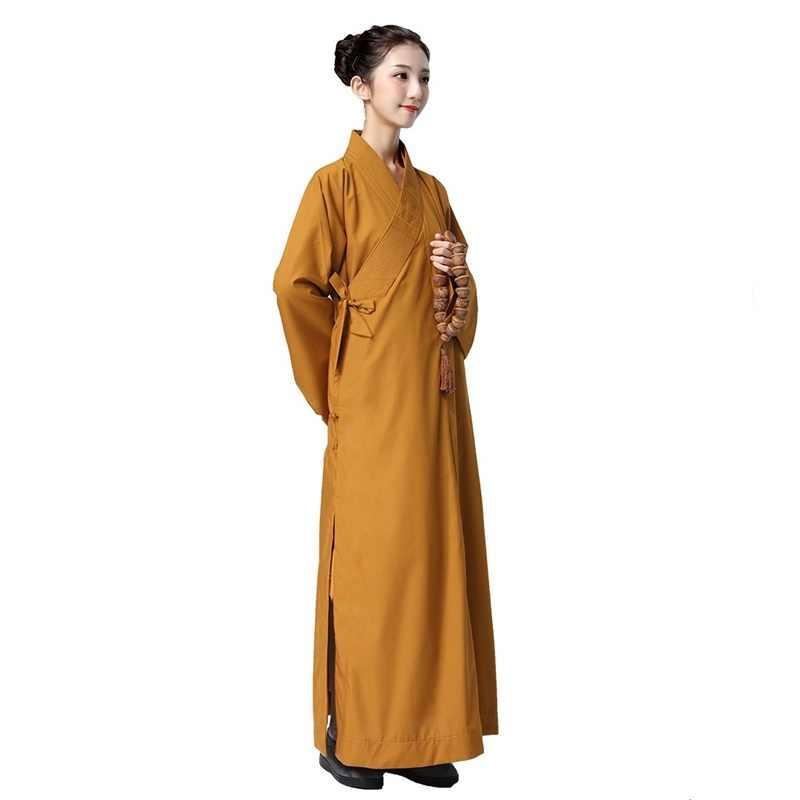 僧侶のローブ女性制服禅服少林寺僧の服僧侶衣装女性レイ TA532