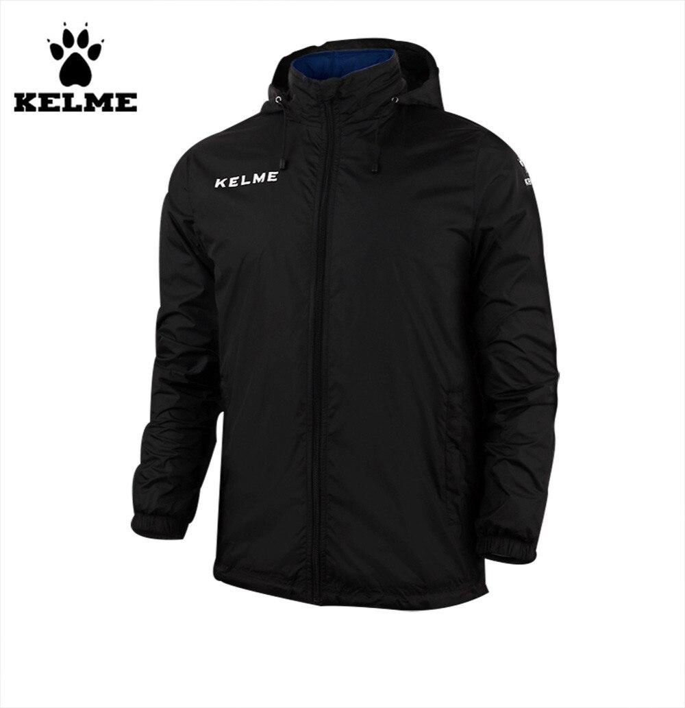 Kelme enfants col montant imperméable imperméables à capuche veste K15S606 noir